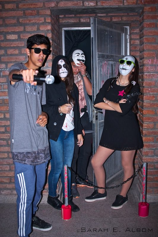 School students wearing costumes based on The Purge, taken in Santa Fe, Argentina. Photo copyright ©Sarah Albom 2016