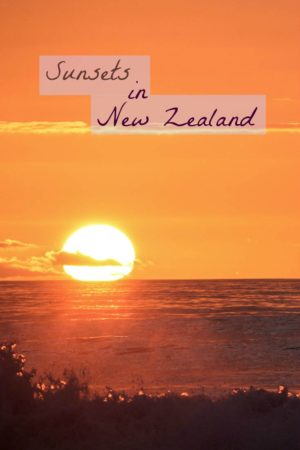 A collection of sunset photo shot in New Zealand
