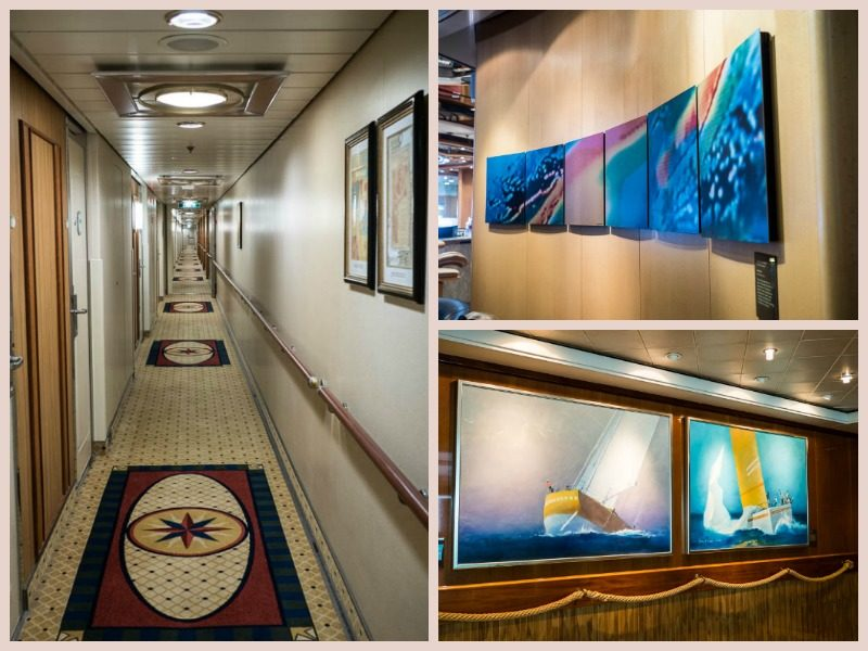 Various artwork on the walls of Radiance of the Seas