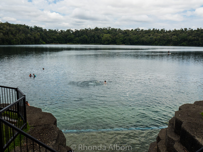Lack Eacham in Crater National Park, outside of Cairns, Australia