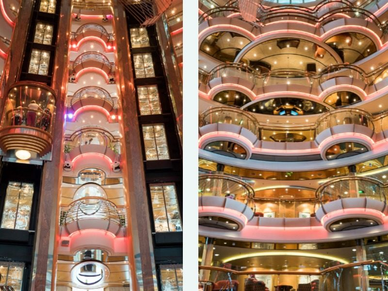 Centre atrium on on the Radiance of the Seas