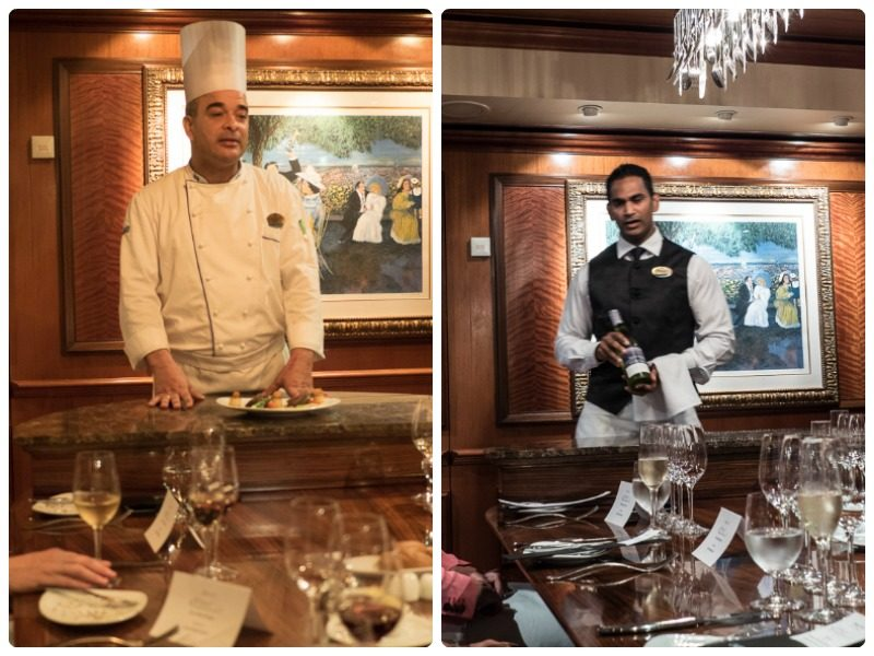 Chef de Cuisine and Master Sommelier Chefs Table on the Radiance of the Seas by Royal Caribbean
