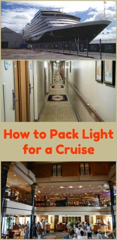 Cruising is great and you only have to unpack once. So why pack light? It makes it easier on travel days. It is possible to have everything you need. Read the article for the details
