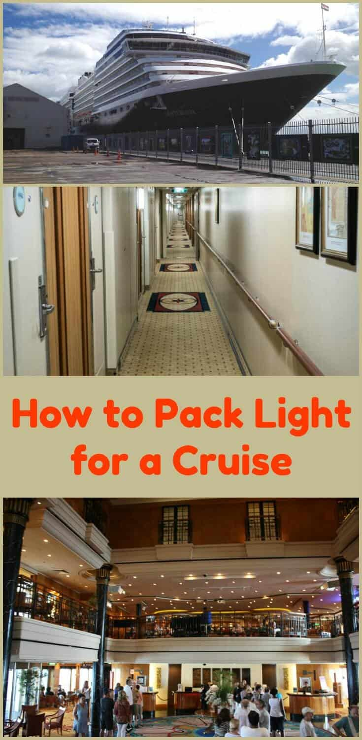 Tips and a packing list to travel light and having all your cruise essentials.  Packing light list works for all travel too. If we can do it, so can you! #travel #cruisetips #cruise #packing #packinglist #traveltips