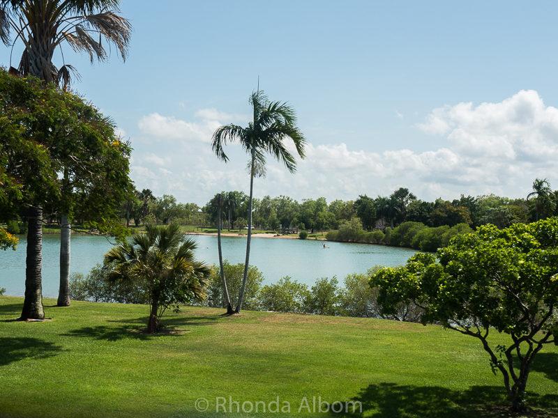 Lake Alexander is a safe to swim in manmade lake in Darwin Australia