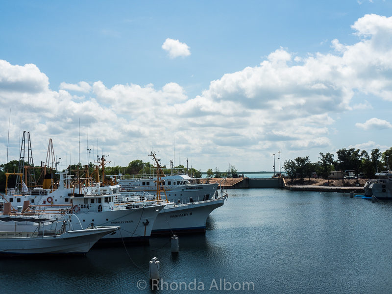 Frances Bay mooring basin in Darwin Australia