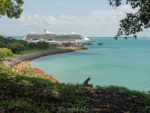 Radiance of the Seas as seen from the Bicentennial Park in Darwin Australia