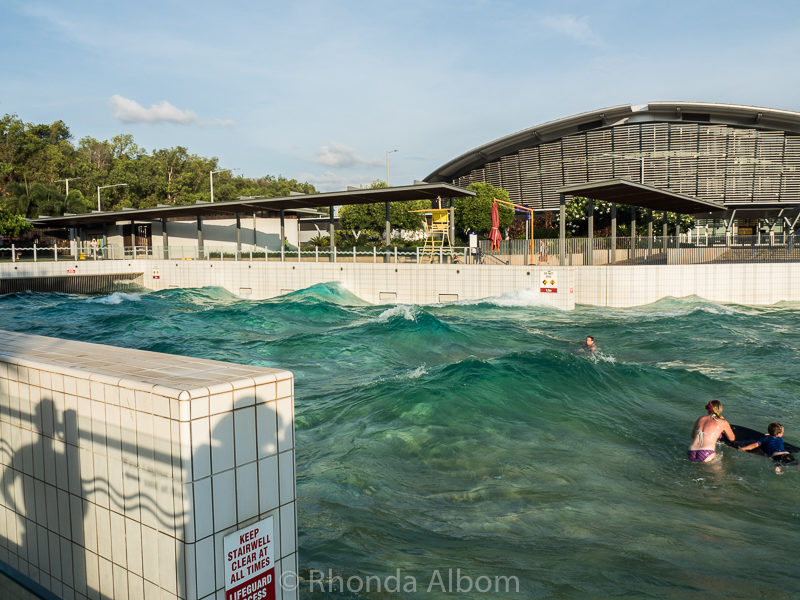 Wave Lagoon and recreation lagoon. in Darwin Australia