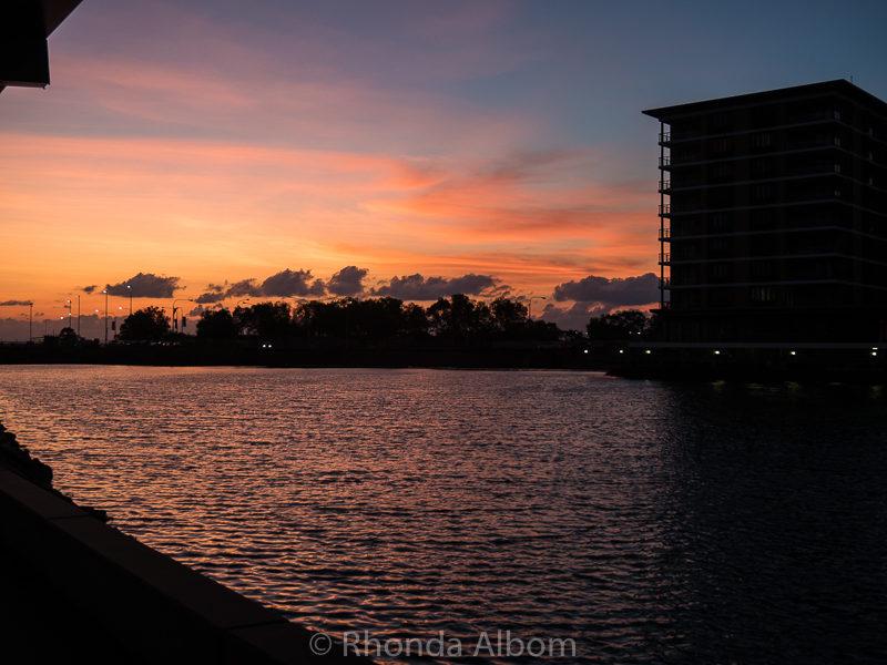 Sunset in Darwin Australia