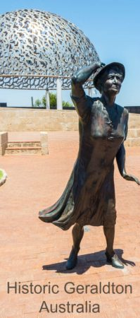 The Waiting Lady at the HMAS Sydney II Memorial is one of many interesting sites in Geraldton Australia