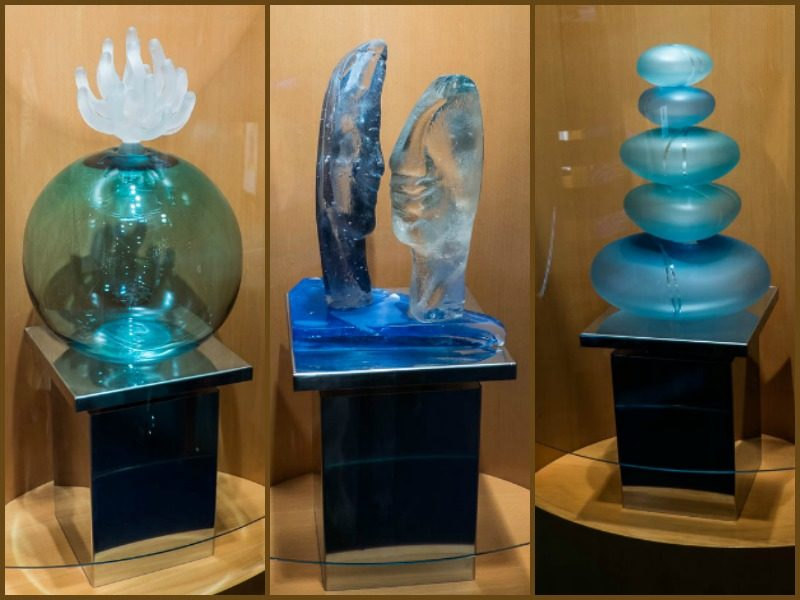 Glass artwork onboard Radiance of the Seas