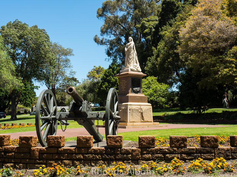 Statue of Queen Victoria at Kings Park in Perth Australia