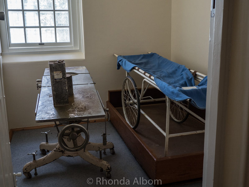 Autopsy tables at J-Ward a lunatic asylum for the criminally insane in Ararat, Australia