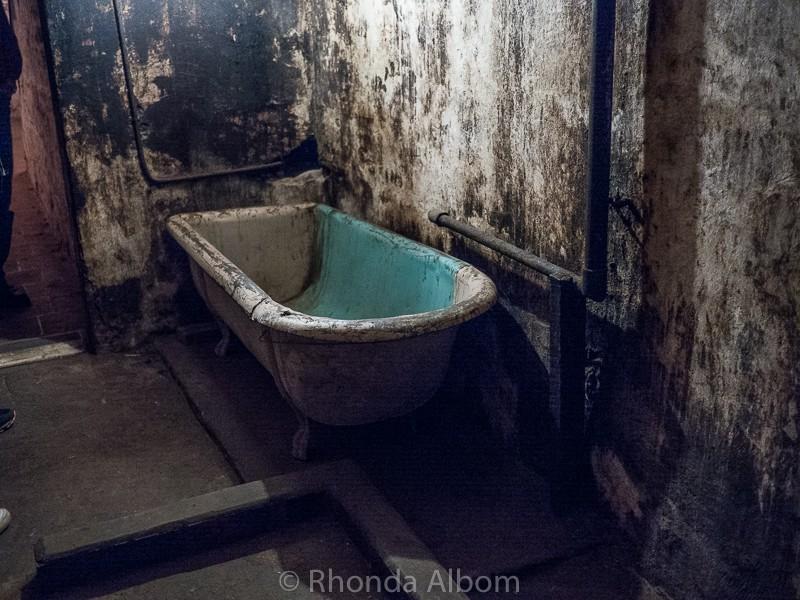 The patient bathtub in J-Ward a lunatic asylum for the criminally insane in Ararat, Australia