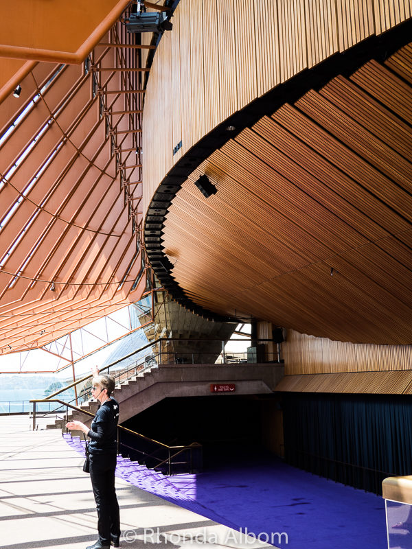 Looking at the foyer from another angle, we can see the boxwood structure around the concert hall.