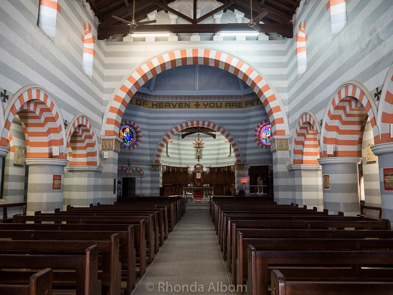 St. Francis Xavier Cathedral interior in Geraldton, Australia