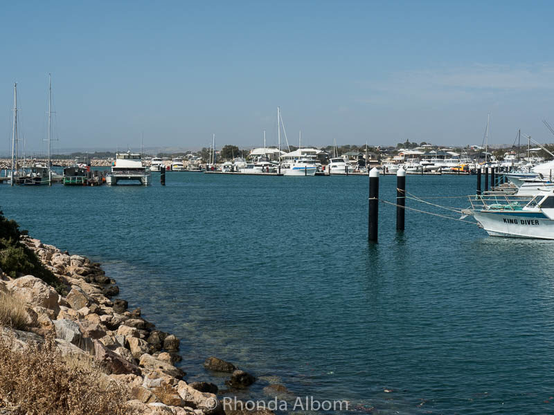 Marina in Geraldton, Australia