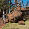 Iron Ore boulder on display in town in Port Hedlands, Australia