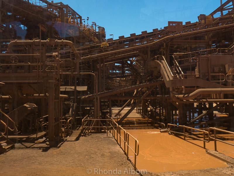 Conveyoring structor at BHP Billiton in Port Hedland, Australia