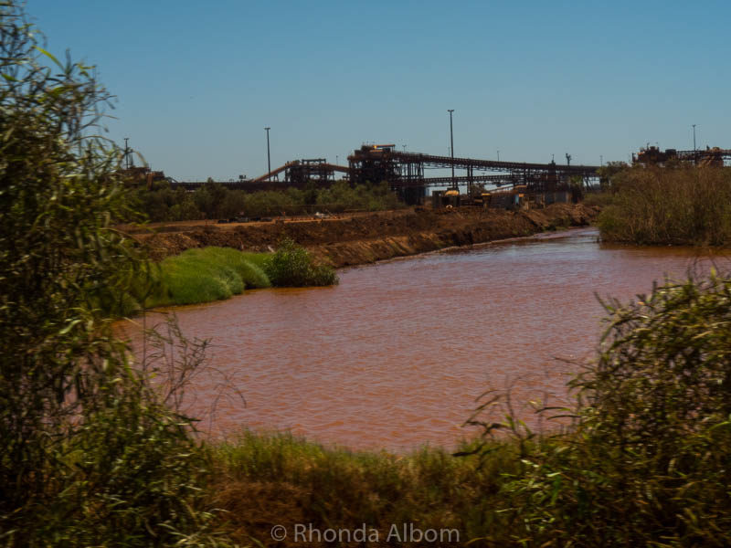 Red from iron ore at BHP Billiton in Port Hedland, Australia