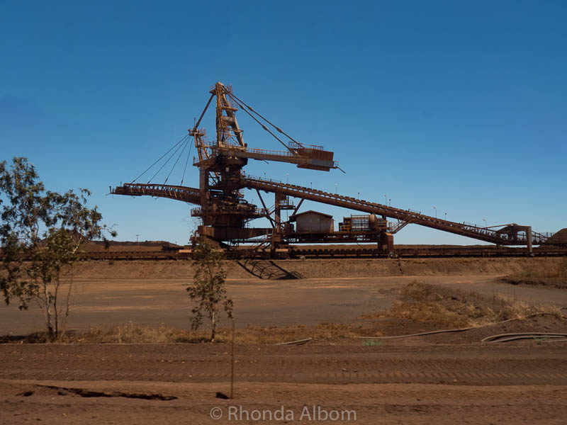 A reclaimer machine at BHP Billiton in Port Hedland, Australia