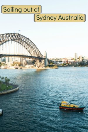 A collection of photos as we sail out of Sydney Harbour