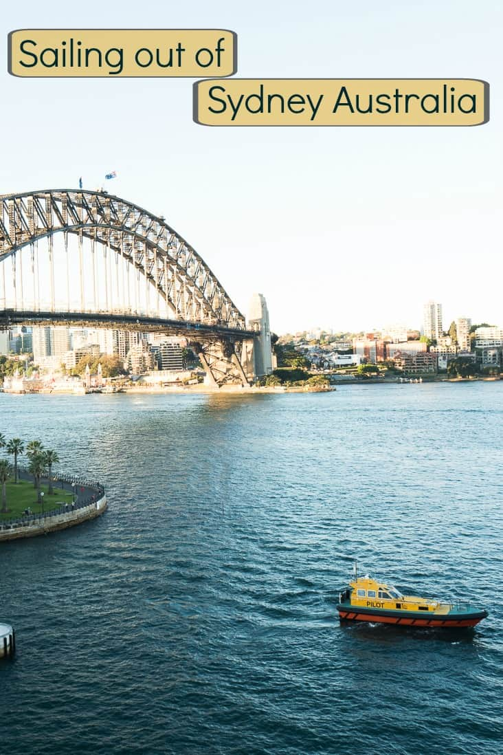 A collection of photos as we sail out of Sydney Harbour in Australia