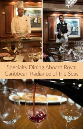 Dinner at the Cher's Table on the Radiance of the Seas by Royal Caribbean