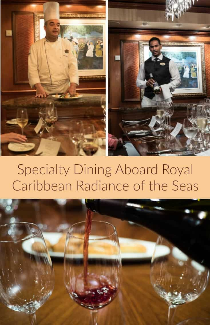 Dinner at the Chef's Table on the Radiance of the Seas is one of the best meals I have ever had. Thanks Royal Caribbean!