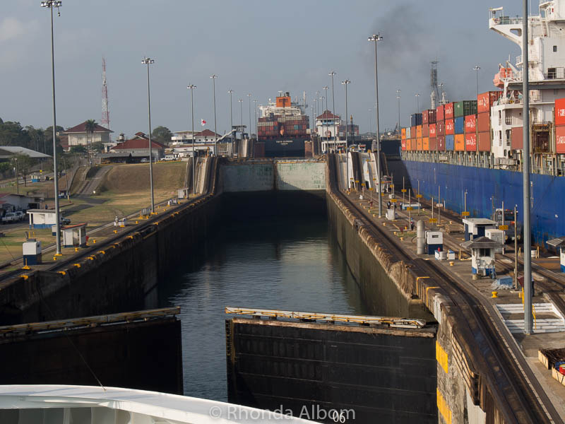 Sailing through the Panama Canal on the Island Princess