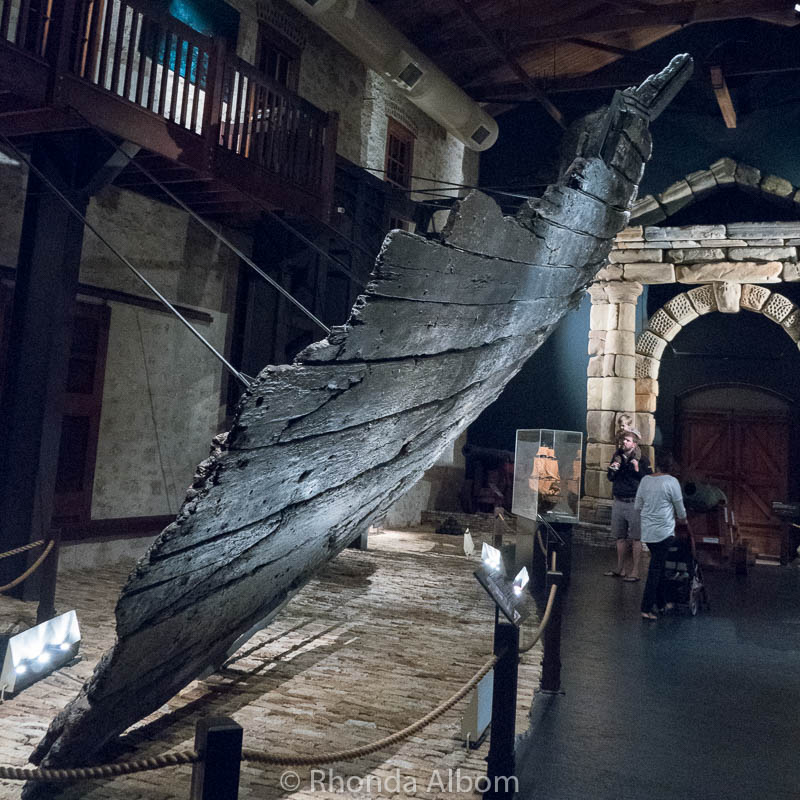 Remains of the Batavia at the Shipwreck Galleries in Fremantle Australia