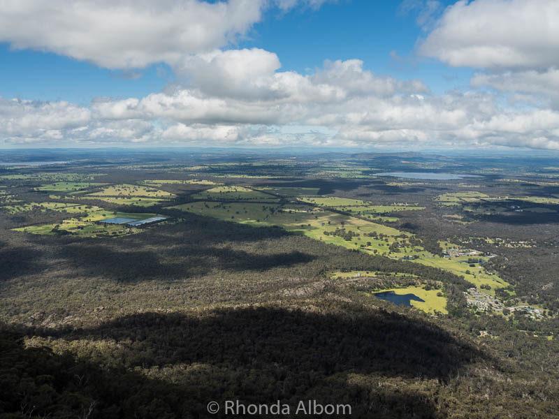 Boroka lookout in the Grampians in Victoria Australia