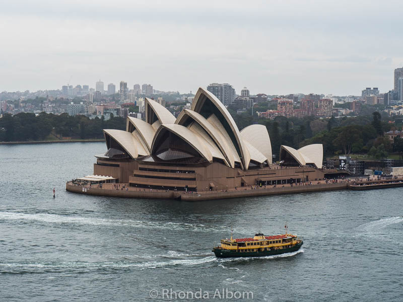 Sydney Opera House as seen from the Sydney Harbour Bridge