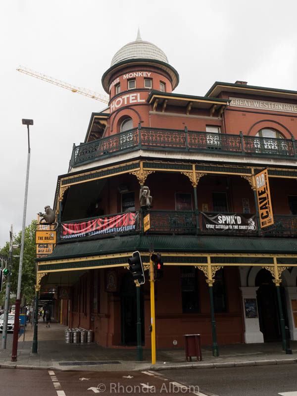 Brass Monkey, a hotel from the gold rush era in Perth, Western Australia