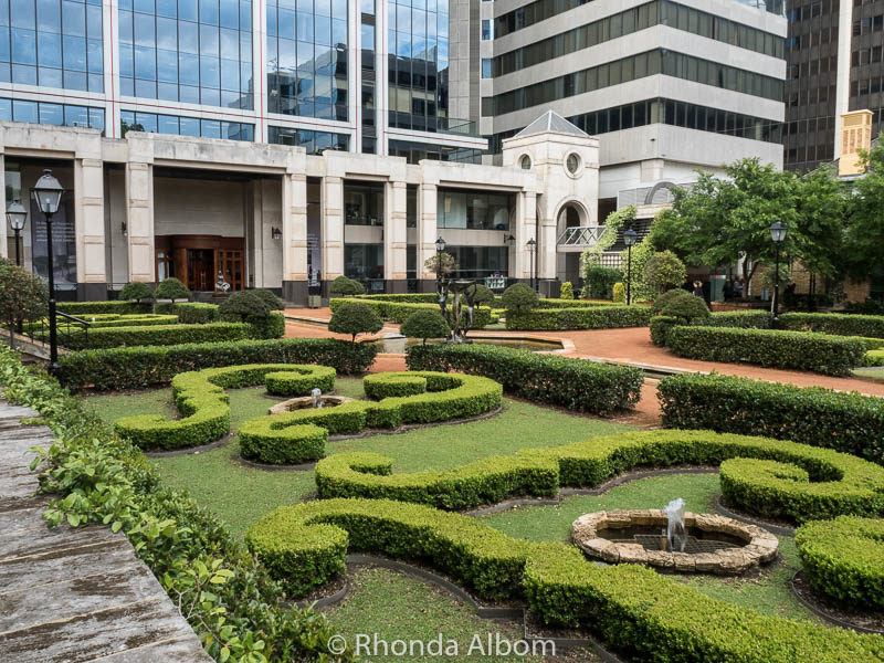 Parterre gardens in St. George Square