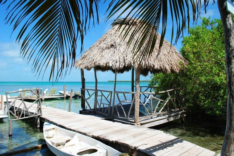 Pier in Belize