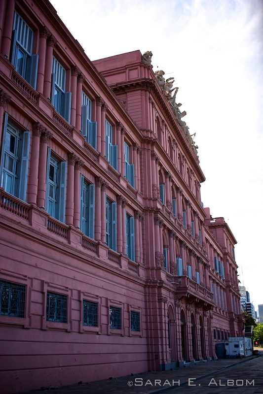 La Casa Rosada, an iconic government house in Argentina.Photo copyright ©Sarah Albom 2016