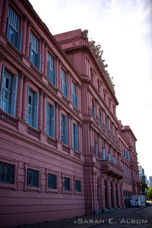 La Casa Rosada, an iconic government house in Argentina.Photo copyright ©Sarah Albom 2016