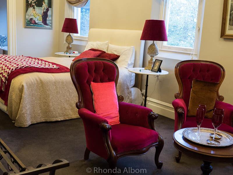 A bedroom in St Patrick's Luxury Botique Hotel in Korit, Australia