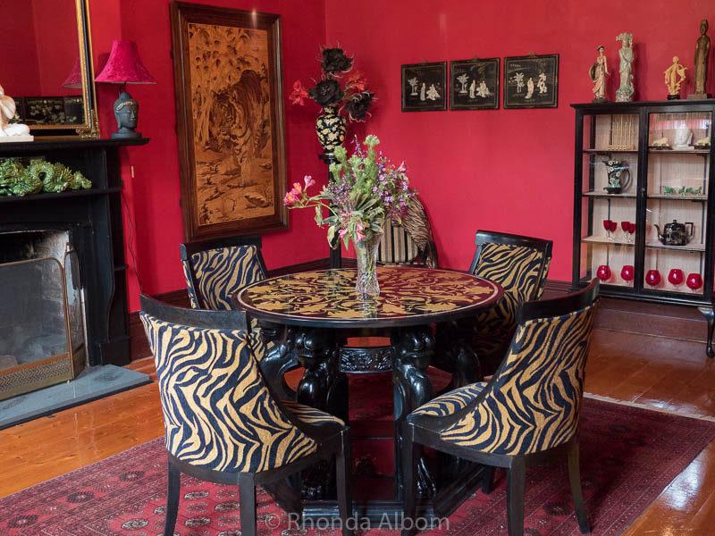 Formal dining room in St Patrick's Luxury Botique Hotel in Korit, Australia
