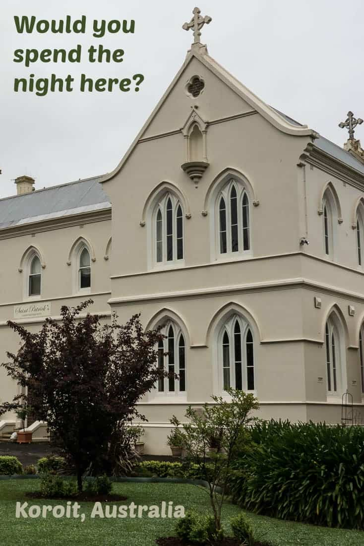 A former convent is now St Patrick's Luxury Boutique Hotel in Korit, Australia