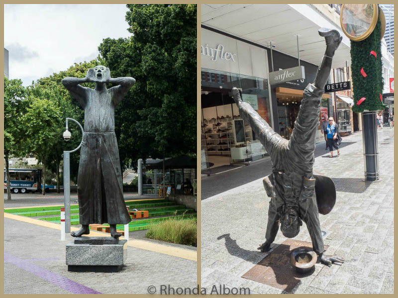 "Two of many bronze statues in Perth: 1) ""Der Rufer (The Caller)"" 1967 was inspired when he was standing beside a man who called across a river to attract the ferry man on the other side. and 2) ""Urban Reflections: Percy in the Mirror"" is honour of a street performer in the 1930-40'S."