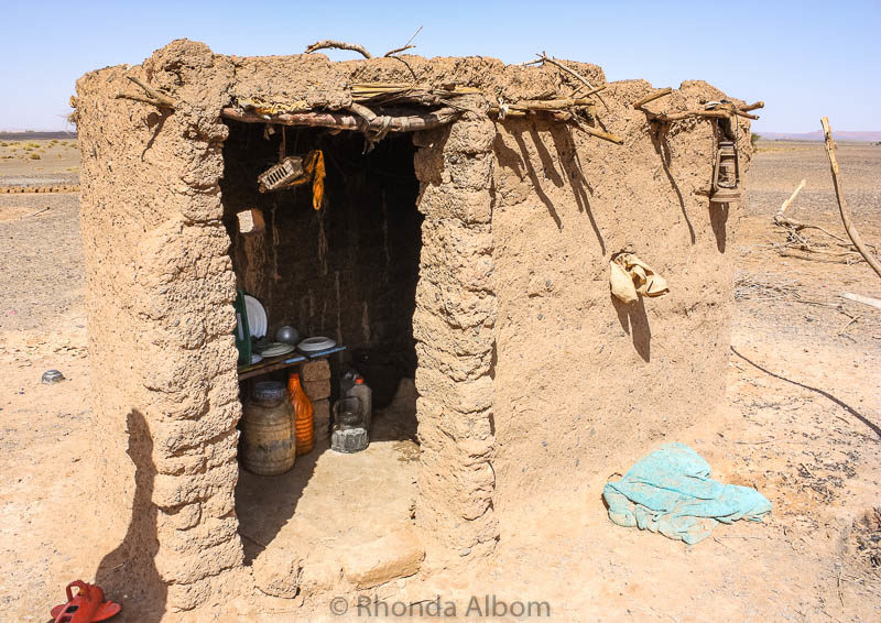 Bedouin kitchen in the Sahara desert in Morocco