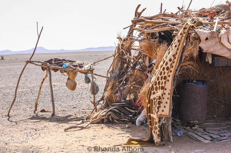 Bedouin camp in the Sahara desert in Morocco