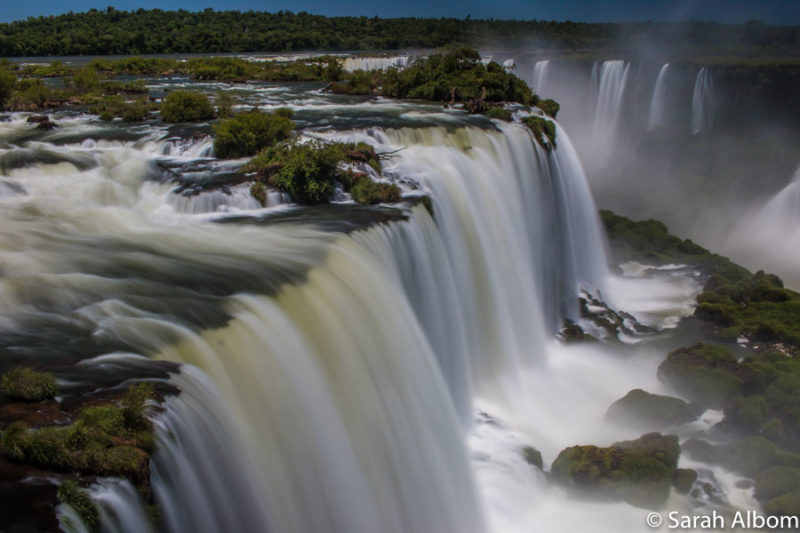 Brazil side of the Iguazu waterfalls