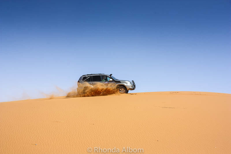 No roads on the dunes.