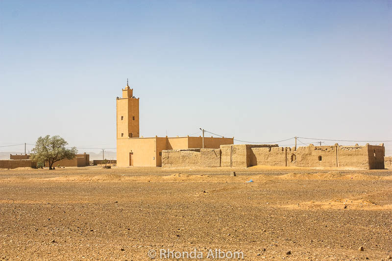 Mosque in the Sahara desert in Morocco