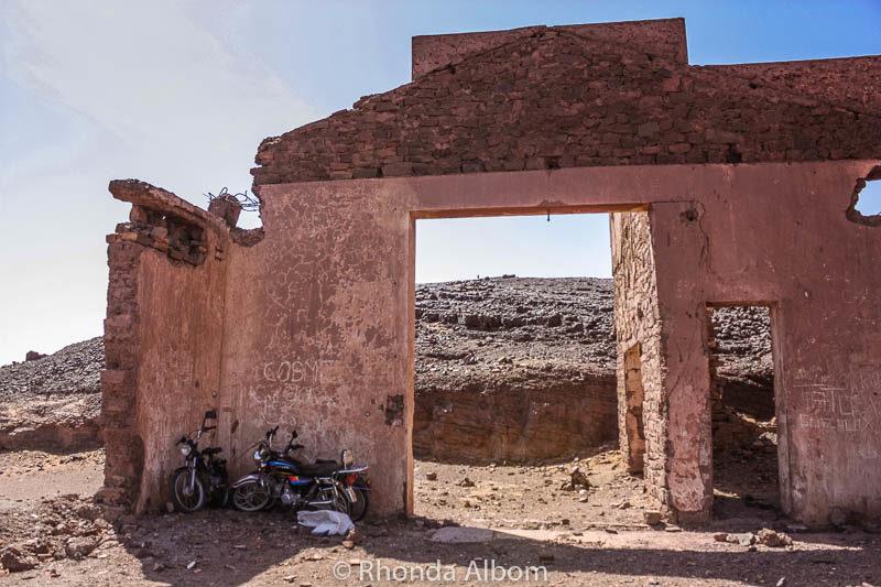 Ruins in Sahara desert in Morocco
