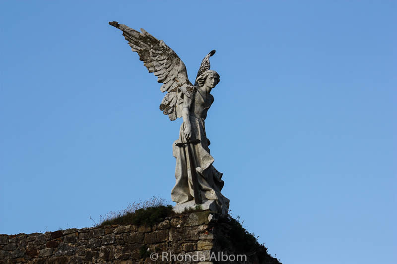 The Angel by Llimona (1895) in the Cemetery of Comillas, Cantabria, Spain