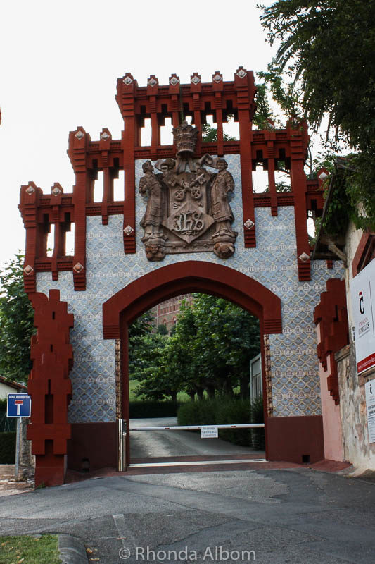Entracne gate to the Pontificial University in Comillas, Cantabria Spain